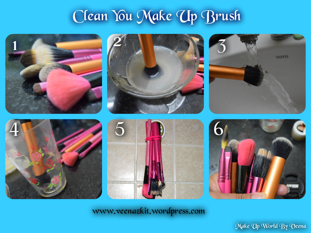 HOW I CLEAN MY MAKEUP BRUSHES <3