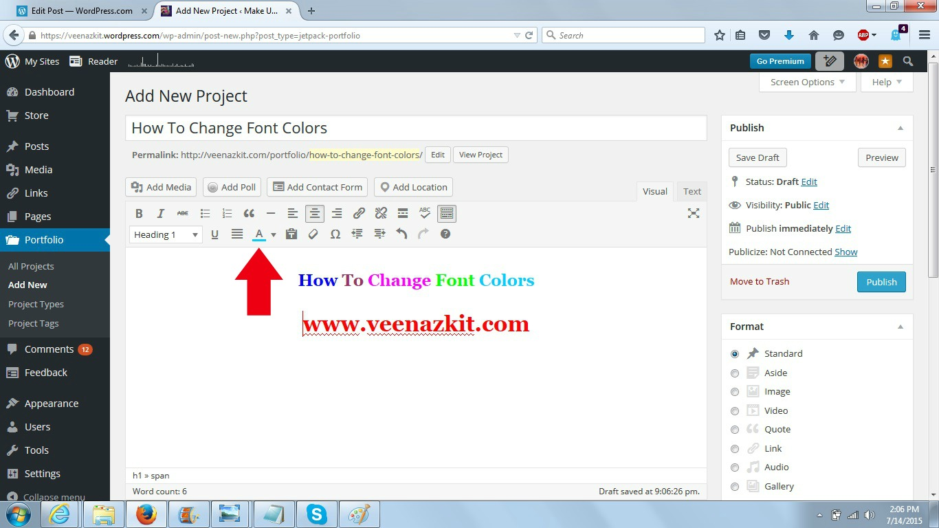 How To Change Font Colors- A short incident