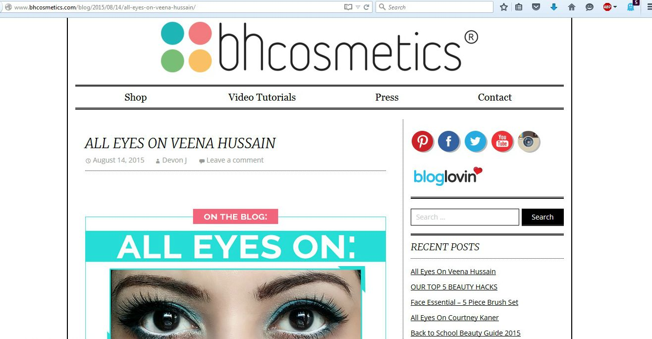 My Post on BH Cosmetics' Official Blog