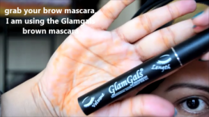 glamgals brown mascara-eyebrow tutorial