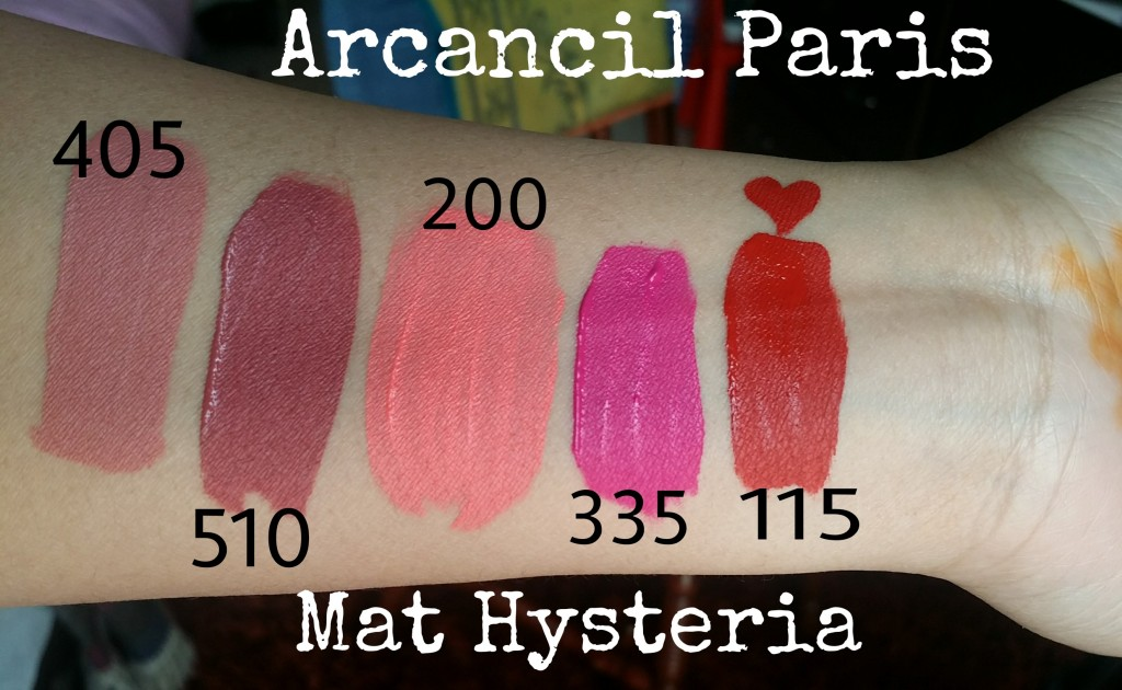 arcancil paris mat hysteria-lipswatch-swatches