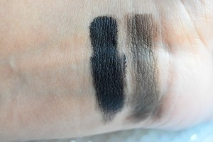 Loreal Pure Black & e.l.f Metallic Olive