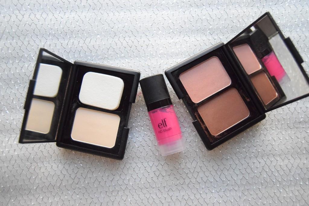 e.l.f cosmetics- e.l.f contouring blush palette- e.l.f HD Blush- e.l.f Mattifying Powder