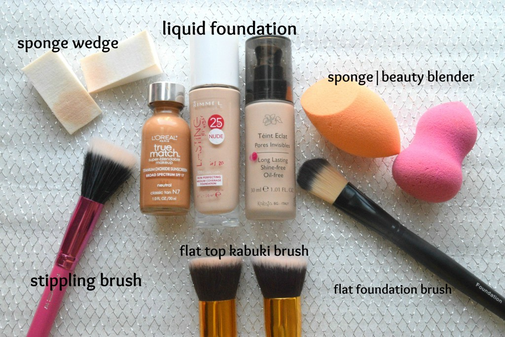 How to apply foundation with a brush?