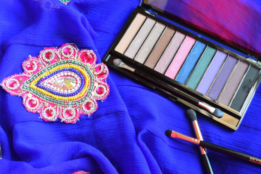 Blue and Pink makeup - Makeup revolution palette