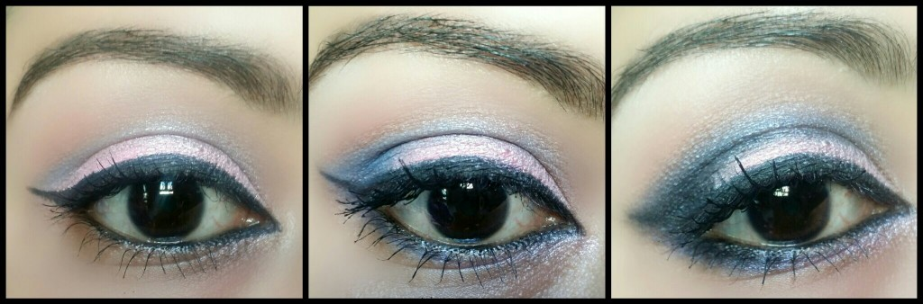 Pink and blue makeup - makeup revolution- makeup-