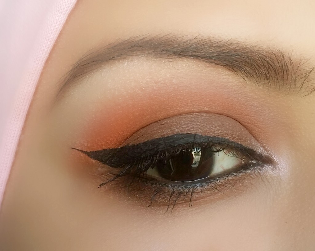 orange and brown matte look