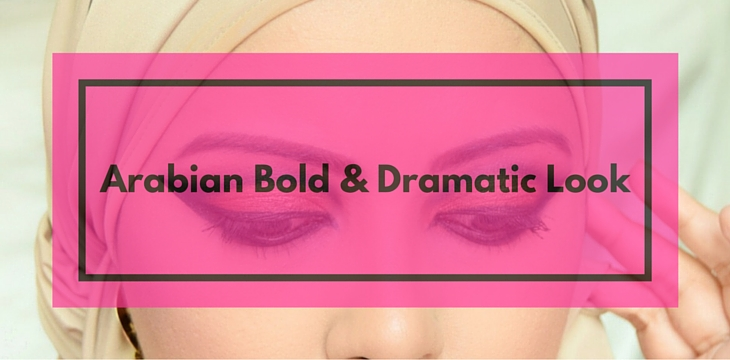 arabian bold and dramatic look - makeup tutorial