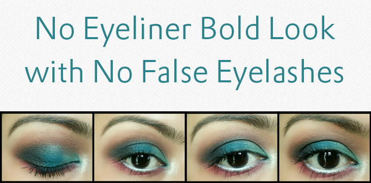 No Eyeliner Bold Look with No False Eyelashes