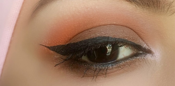 Orange and Brown Matte Eye Makeup Look