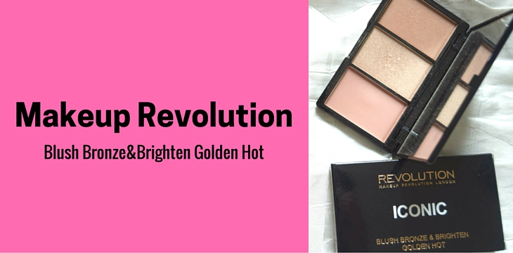 Makeup Revolution Iconic Blush Bronze & Brighten Golden Hot