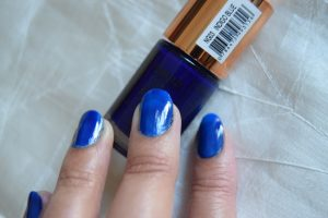Eleanor nail polish Geluxe Indigo Blue