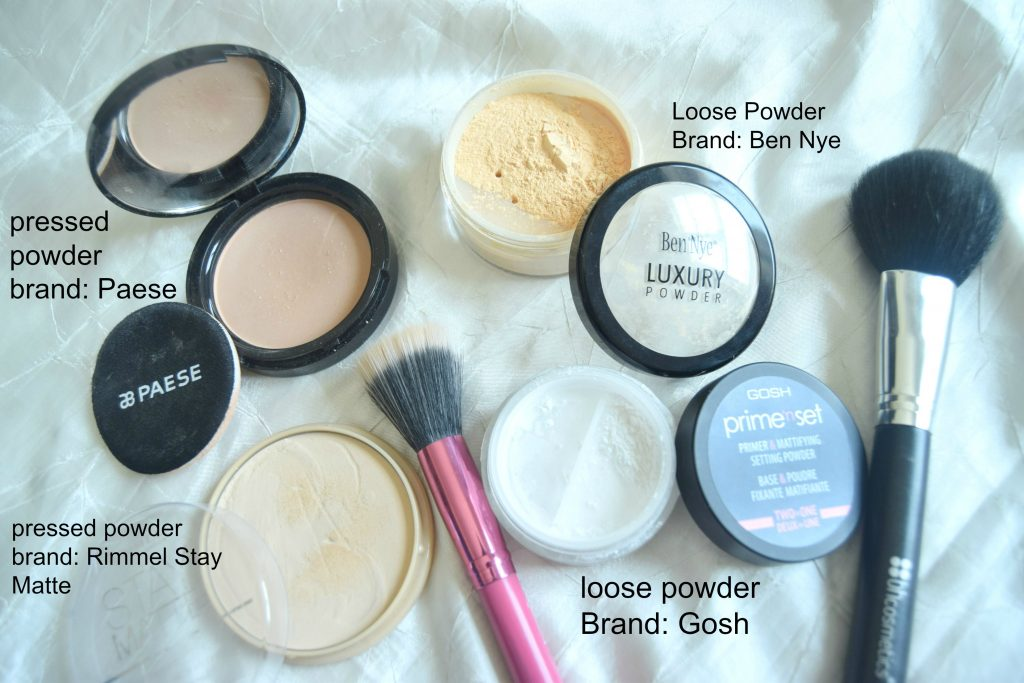 loose-pressed powders