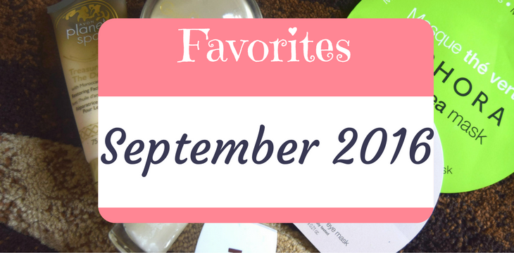 September Favorites 2016