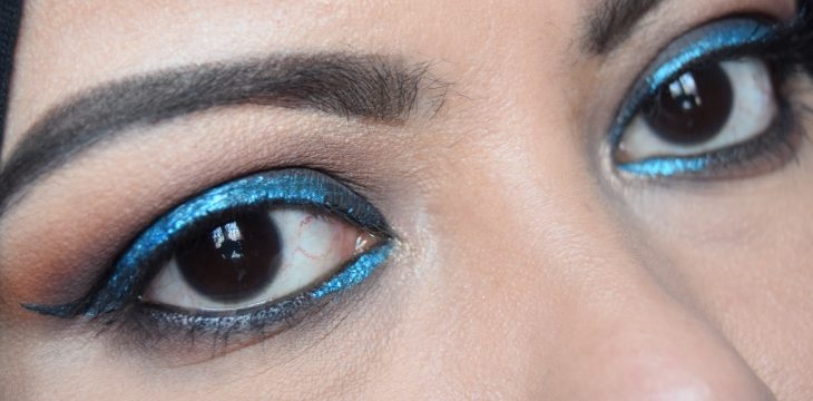 Blue Winged Liner look