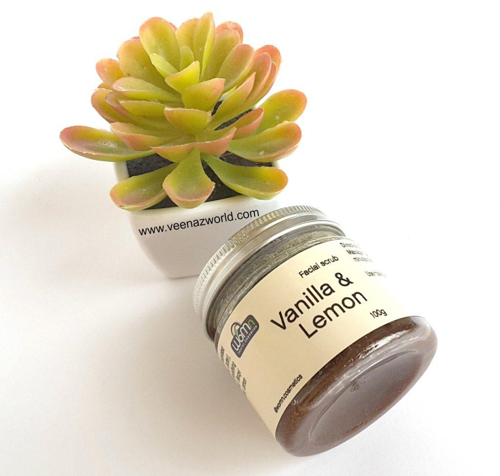 Womn Vanilla & Lemon Scrub, organic skin care