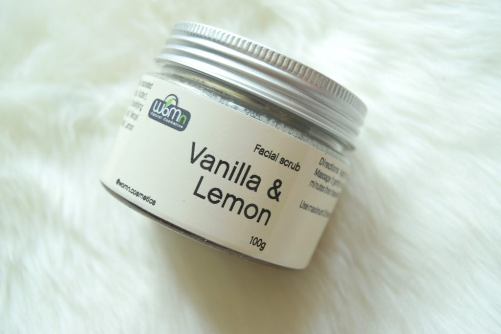 womn vanilla and lemon face scrub