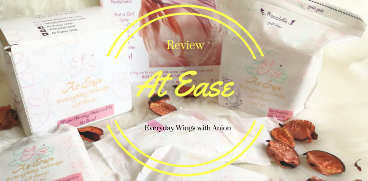 At Ease Pantyliner- Everyday Wings with Anion; Review