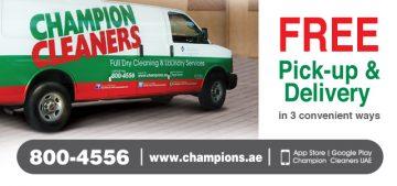 champion cleaners, dubai, dry cleaners dubai